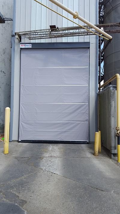 Vertical Lift Fabric Doors Used In Fertilizer